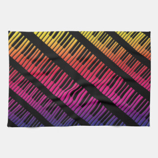 Klavier befestigt Regenbogen der Farbe Handtuch