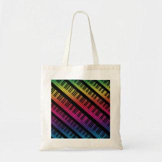 Klavier befestigt Regenbogen der Farbe Tragetasche