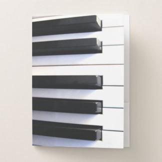 Klavier befestigt Taschen-Ordner Mappe