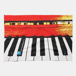 Klavier befestigt Tee-Tuch Handtuch