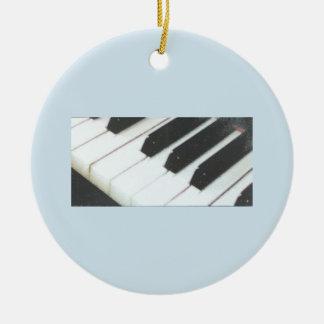 Klavier befestigt Verzierung Keramik Ornament