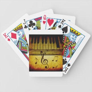 Klavier befestigt Vintages Bicycle Spielkarten