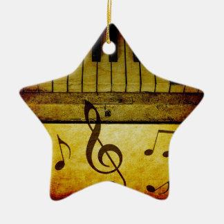 Klavier befestigt Vintages Keramik Stern-Ornament