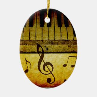 Klavier befestigt Vintages Ovales Keramik Ornament