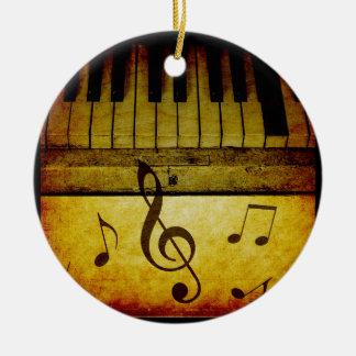 Klavier befestigt Vintages Rundes Keramik Ornament