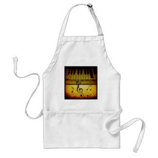 Klavier befestigt Vintages Schürze