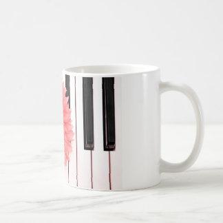 Klavier-Blume Kaffeetasse