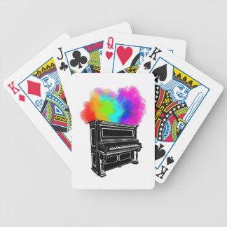 Klavier-bunter Rauch Bicycle Spielkarten