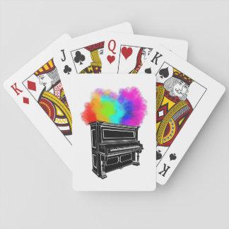 Klavier-bunter Rauch Spielkarten