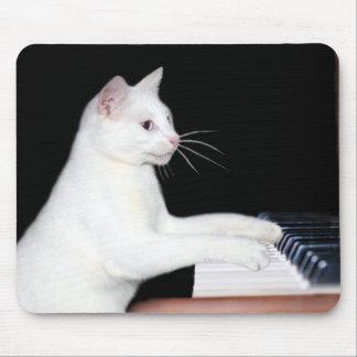 Klavier, das Katze spielt Mousepad