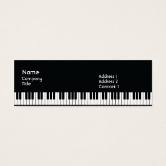 Klavier - dünn mini visitenkarte