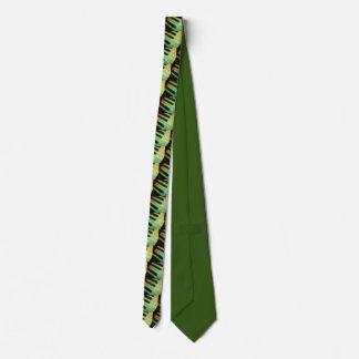 Klavier-elektrisches Grün Individuelle Krawatte
