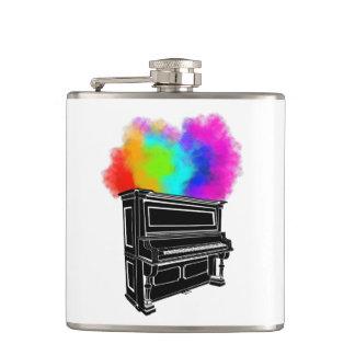 Klavier-Explosion der Farbe Flachmann