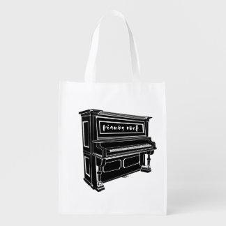 Klavier-Felsen Wiederverwendbare Einkaufstasche