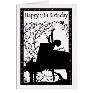 Klavier-glückliche 13. Geburtstags-Gruß-Karte Karte