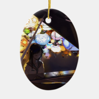 Klavier in der Dunkelheit Keramik Ornament