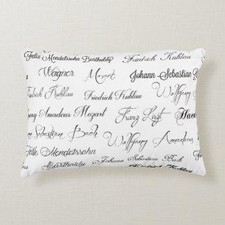 Klavier Komponisten der Klassik Accent Pillow