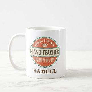 Klavier-Lehrer-personalisiertes Kaffeetasse