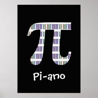 Klavier ~ lustige Mathe-Musik-Aussenseiter-Plakat-