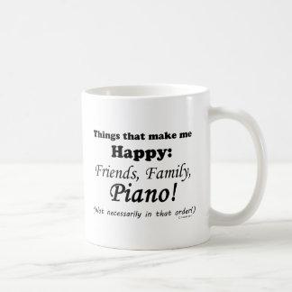 Klavier macht mich glücklich kaffeetasse