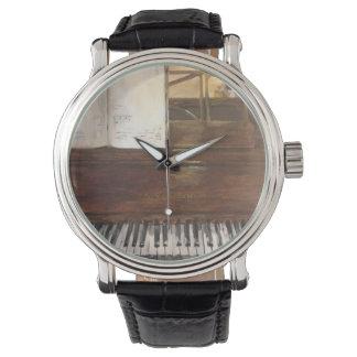 Klavier-Malerei-Uhr durch Willowcatdesigns Uhr