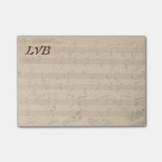 Klavier-Manuskript-Monogramm Beethovens Post-it Klebezettel