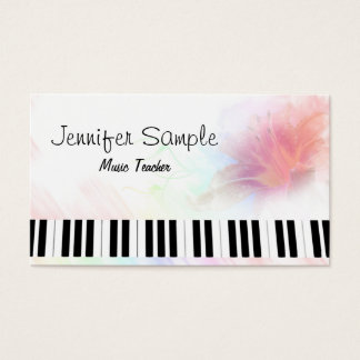 Klavier-Musik-Lehrer-berufliches elegantes Visitenkarte