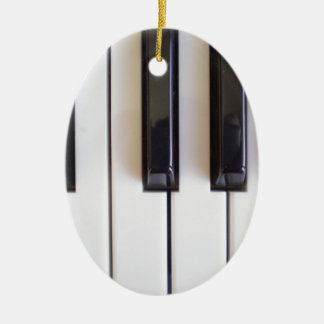 Klavier-Musik Ovales Keramik Ornament