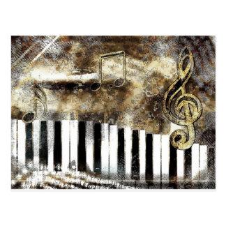 Klavier-Musik Postkarte