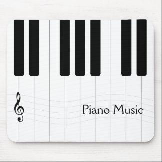 Klavier-Musik Schwarzweiss Mousepad
