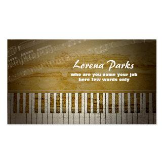 Klavier-Musikindustriekarte Visitenkarten