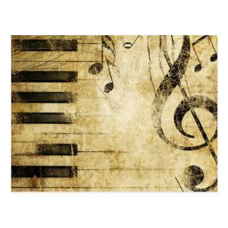 Klavier-Musiknoten Postkarte