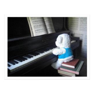 Klavier Postkarte