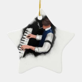 Klavier-Sänger Keramik Stern-Ornament