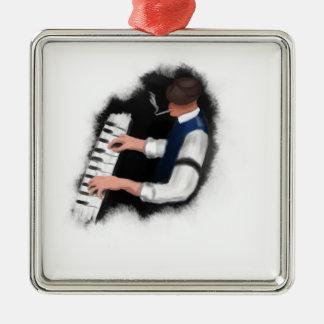 Klavier-Sänger Silbernes Ornament