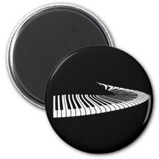 Klavier-Schlüssel Runder Magnet 5,7 Cm