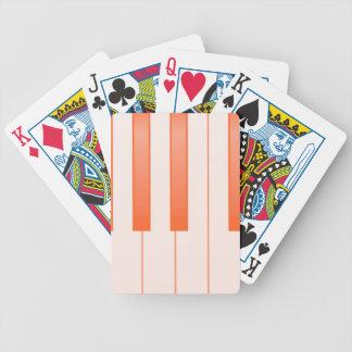 Klavier-Schlüsselhintergrund Bicycle Spielkarten