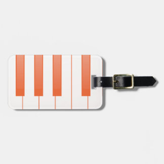 Klavier-Schlüsselhintergrund Gepäckanhänger