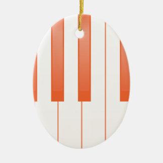 Klavier-Schlüsselhintergrund Ovales Keramik Ornament