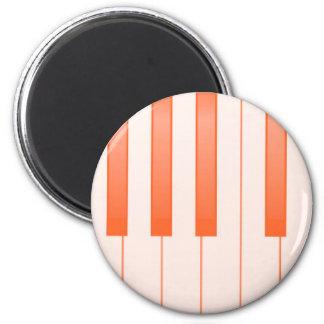 Klavier-Schlüsselhintergrund Runder Magnet 5,7 Cm