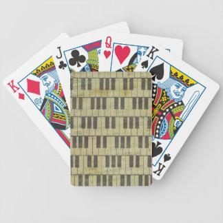 Klavier-Schlüsselmusik-Anmerkung Bicycle Spielkarten