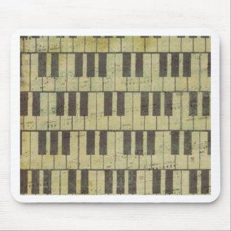 Klavier-Schlüsselmusik-Anmerkung Mauspad
