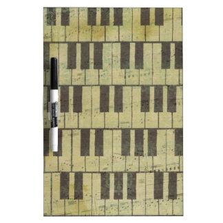 Klavier-Schlüsselmusik-Anmerkung Trockenlöschtafel