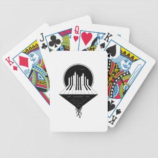 Klavier-Skyline Bicycle Spielkarten