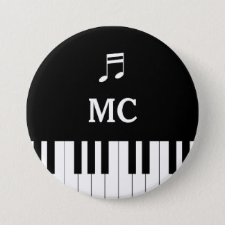 Klavier-Tastatur-Hochzeits-Button Lux Runder Button 7,6 Cm