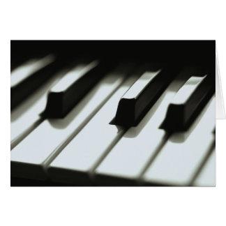 Klavier-Tastatur-Karte Grußkarte