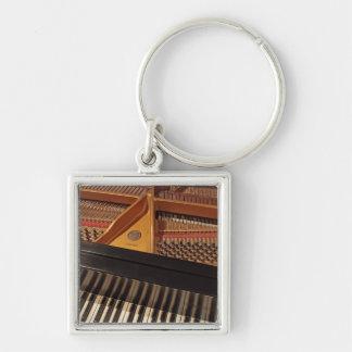 Klavier-Tastatur Keychain Silberfarbener Quadratischer Schlüsselanhänger