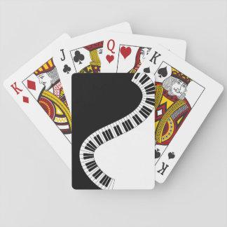 Klavier-Tastatur-musikalische Spielkarten
