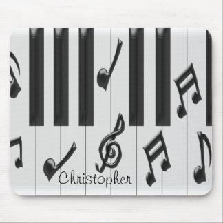 Klavier-Tastatur personalisiert Mauspads