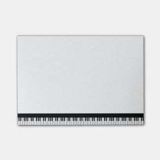Klavier-Tastatur-Post-Itanmerkungen Post-it Klebezettel